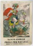 Ambito italiano sec. XIX, S. Giorgio e il drago