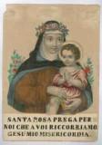 Calcografia Briola P. seconda metà sec. XIX, S. Rosa da Lima con Gesù Bambino