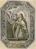 Ambito italiano sec. XVIII, Transverberazione di S. Teresa d'Avila