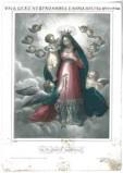 Calcografia Reycend sec. XIX, Gesù Bambino incorona la Madonna e angeli