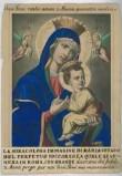 Ambito italiano sec. XIX, Madonna del perpetuo soccorso con Gesù Bambino