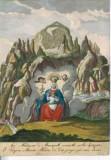 Calcografia Remondini sec. XVIII, Stampa acquerellata della Madonna di Monserrat