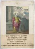 Stamperia Dopter Maggiolo prima metà sec. XIX, S. Caterina d'Alessandria
