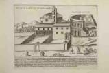 Lauro G. (1628), Veduta della basilica di S. Croce in Gerusalemme a Roma