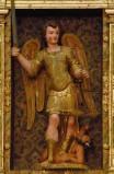 Bott. friulana sec. XVII, S. Michele arcangelo sconfigge il demonio