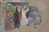 Ambito veneto inizio sec. XV, Fuga in Egitta il miracolo dei datteri