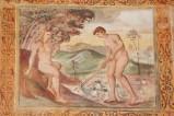 Negro G.-Negro A. (1523-1531), Eva fila e Adamo zappa la terra