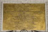 Bottega veneta inizio sec. XVII, Targa con iscrizione