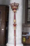 Bottega veneta sec. XIX, Candelabro processionale rosso 3/4