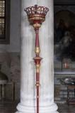 Bottega veneta sec. XIX, Candelabro processionale rosso 4/4