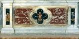 Bott. veneta prima metà sec. XVII, Paliotto con San Carlo Borromeo