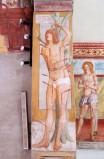 Del Zotto G. (1496), Affresco di San Sebastiano