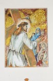 Pittino F. sec. XX, Gesù consola le donne di Gerusalemme