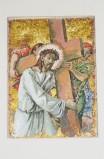 Pittino F. sec. XX, Gesù caricato della croce