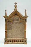 Rupolo D. sec. XIX, Cartagloria centrale in legno dorato e dipinto