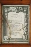 Ambito veneto sec. XVIII, Cartagloria con stampa del Lavat Manus