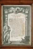 Ambito veneto sec. XVIII, Cartagloria con stampa del Sancti Evangeli