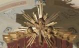 Bott. veneta sec. XIX, Baldacchino con testine di cherubino tra raggi