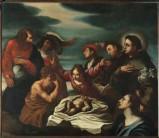 Ambito veneto sec. XVII, Sant'Antonio da Padova e il miracolo del neonato
