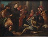 Ambito veneto sec. XVII, Sant'Antonio da Padova resuscita un giovane