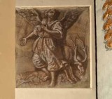 Ambito veneto sec. XIX, Angelo con cervo