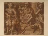 Ambito veneto sec. XIX, San Giorgio davanti al re