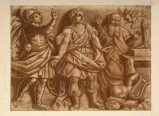 Ambito veneto sec. XIX, San Giorgio davanti al re in trono