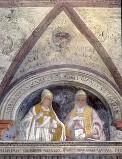 Morone F. sec. XVI, Papa Adriano IV e papa Eugenio III