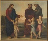 Ambito veneto sec. XIX, Gesù Cristo incontra i discepoli a Emmaus