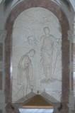 Bottega veneta sec. XX, Rilievo del Battesimo di Cristo