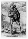 De Gheyn J. II (1587), Soldato con spadone e scudo